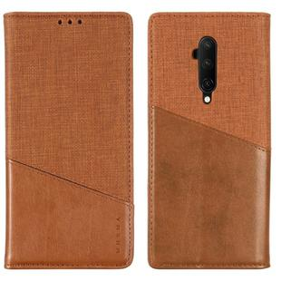 For OnePlus 7T Pro MUXMA MX109 Horizontal Flip Leather Case with Holder & Card Slot & Wallet(Brown)