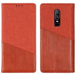 For OnePlus 6 MUXMA MX109 Horizontal Flip Leather Case with Holder & Card Slot & Wallet(Red)