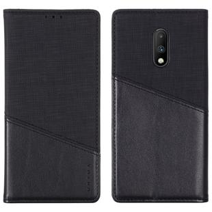 For OnePlus 7 MUXMA MX109 Horizontal Flip Leather Case with Holder & Card Slot & Wallet(Black)