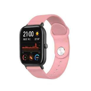 22mm For Huami Amazfit GTS Silicone Replacement Strap Watchband(Girly Pink)