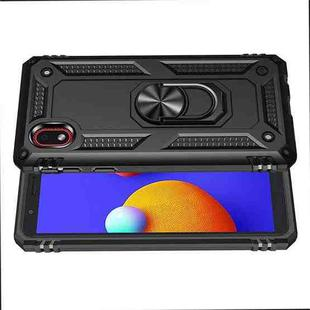 For Samsung Galaxy M01 Core Shockproof TPU + PC Protective Case with 360 Degree Rotating Holder(Black)