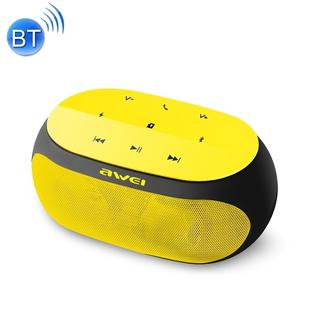 awei Y200 Wireless Bluetooth Speaker with Touch Buttons, Support Aux Line and TF Card(Yellow)