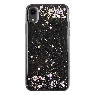 Epoxy Sky Pattern Soft Case For  iPhone XR  6.1 inch(Black Sequins)