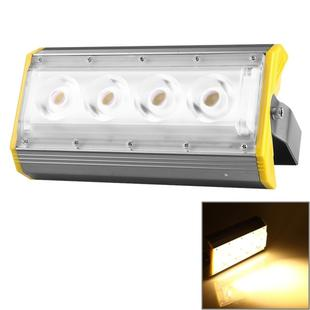 LS50A 50W IP65 Waterproof LED Flood Light, 4 LEDs 5000 LM 3000-6000K New Design LED Linear Project-light Lamp, AC 100-240V(Warm White)