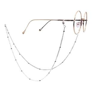 Fashion Simple Pearl Eyeglasses Chain (Silver)