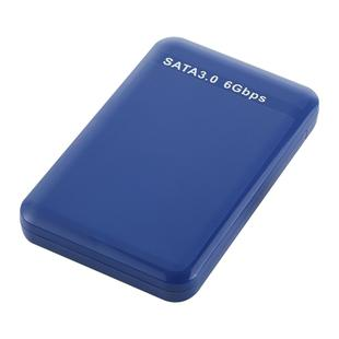 2.5 inch HDD Enclosure 6Gbps SATA 3.0 to USB 3.0 Hard Disk Drive Box External Case(Blue)