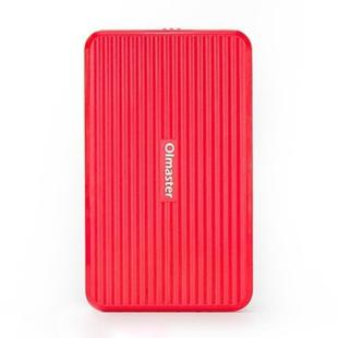 OImaster EB-2506U3 SATA USB 3.0 Interface HDD Enclosure for Laptops, Support Thickness: 7.0-12.5mm (Red)