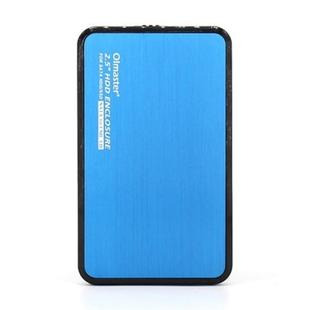 OImaster EB-2506U3 SATA USB 3.0 Interface Aluminum Panel HDD Enclosure for Laptops, Support Thickness: 7.0-12.5mm (Blue)