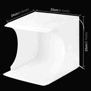 [US Warehouse] PULUZ 20cm Include 2 LED Panels Folding Portable 1100LM Light Photo Lighting Studio Shooting Tent Box Kit with 6 Colors Backdrops (Black, White, Yellow, Red, Green, Blue), Unfold Size: 24cm x 23cm x 23cm