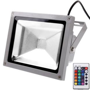 20W Waterproof Floodlight , RGB LED Lamp with Remote Control, AC 85-265V