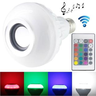 E27 RGB LED Light Lamps Speaker, Bluetooth, Support WiFi Phone Control, Adjustable Light, with Remote Control