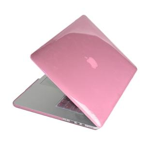 ENKAY for MacBook Pro Retina 13.3 inch (US Version) / A1425 / A1502 4 in 1 Crystal Hard Shell Plastic Protective Case with Screen Protector & Keyboard Guard & Anti-dust Plugs(Pink)