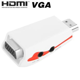 Full HD 1080P HDMI to VGA Adapter for Power and Audio