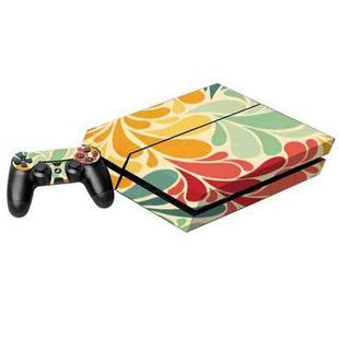 Colorful Leaves Pattern Decal Stickers for PS4 Game Console