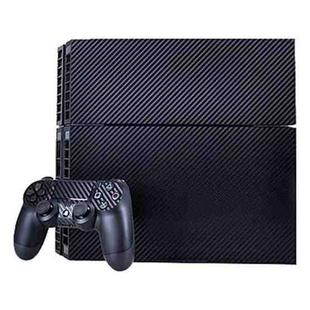 Carbon Fiber Texture Decal Stickers for PS4 Game Console(Black)