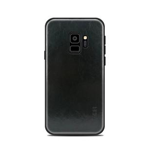 MOFI for Galaxy S9 PC+TPU+PU Leather Protective Back Cover Case(Black)
