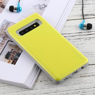 GOOSPERY Sky Slide Bumper TPU + PC Case for Galaxy S10+, with Card Slot(Grass Green)
