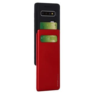 GOOSPERY Sky Slide Bumper TPU + PC Case for Galaxy S10+, with Card Slot(Red)