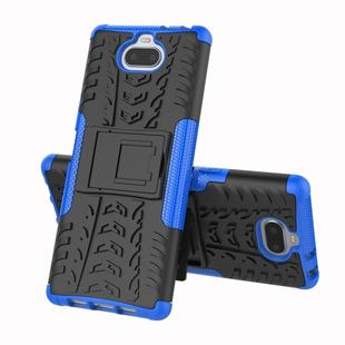 Tire Texture TPU+PC Shockproof Case for Sony Xperia XA3, with Holder (Blue)