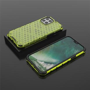 For iPhone 12 / 12 Pro Shockproof Honeycomb PC + TPU Case(Green)