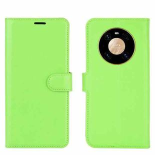 For Huawei Mate 40 Pro Litchi Texture Horizontal Flip Protective Case with Holder & Card Slots & Wallet(Green)