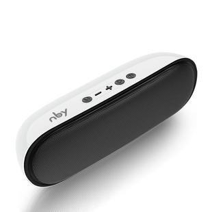 NBY 4070 Portable Bluetooth Speaker 3D Stereo Sound Surround Speakers, Support FM, TF, AUX, U-disk(White)