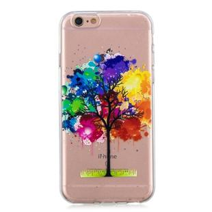 For iPhone SE 2020 / 8 / 7 3D Pattern Transparent TPU Case(Painting tree)