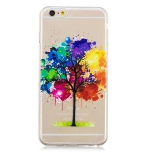 For iPhone 6 Plus 3D Pattern Transparent TPU Case(Painting tree)
