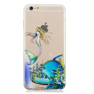 For iPhone 6 Plus 3D Pattern Transparent TPU Case(Mermaid)