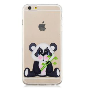 For iPhone 6 Plus 3D Pattern Transparent TPU Case(Bamboo Bear)