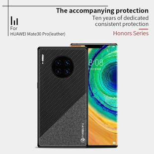 For Huawei Mate 30 Pro 5G (Leather) PINWUYO Rong Series Shockproof PC + TPU+ Chemical Fiber Cloth Protective Cover(Blue)