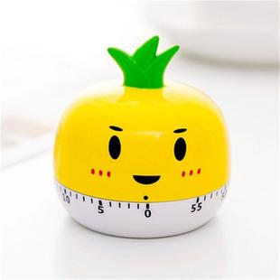 Creative Cartoon Fruit Shape Multi-Function Rotary Timer Learning Work Efficiency Time Manager(Pineapple)