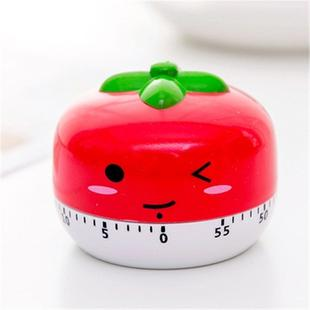 Creative Cartoon Fruit Shape Multi-Function Rotary Timer Learning Work Efficiency Time Manager(Tomato)
