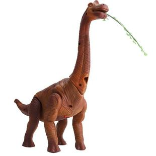 Electric Dinosaurs Walking Lighting Lay Eggs Project Small Brachiosaurus Simulation Animal Model Toys(Brown)