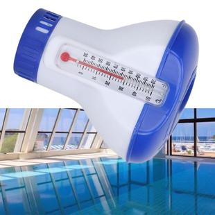5 Inch Pool Thermometer Floating Water Pill Impetuous Pool Disinfection Automatic Drug Dispenser Pool Accessories