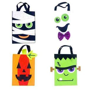 2 PCS Halloween Decoration Fabric Felt Portable Storage Bag Children Trick or Treat Sugar Candy Bag, Size: D Section White
