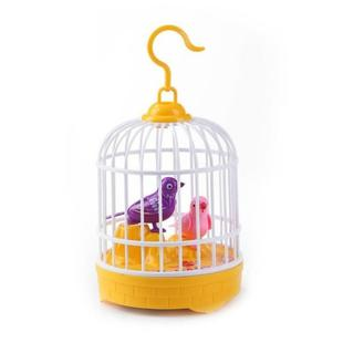 Voice-activated Electric Birdcage Mini Children Toys(Yellow)