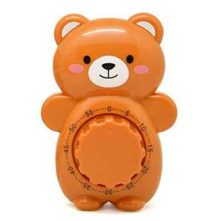 3 PCS Cartoon Bear Timer Kitchen Gadget Mechanical Timer(Brown)