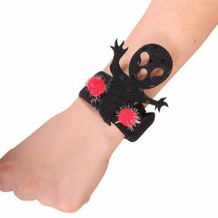 25 PCS Halloween Pop Ring Bracelet Ghost Festival Gift Party Decorations(Black Kid)