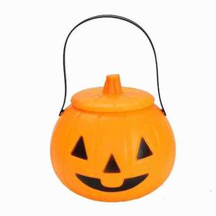 2 PCS Hand-Held Halloween Pumpkin Lantern Decoration With Lid, Style:Classic