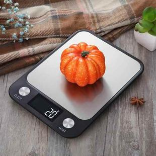 Small Kitchen Food Scale Stainless Steel Electronic Kitchen Scale 5kg/1g (Battery English Version Black)