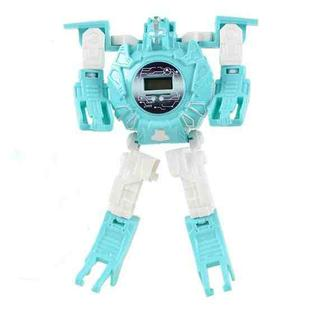 3 PCS Children Electronic Watch Cartoon Deformation Robot Toy Watch(Blue )