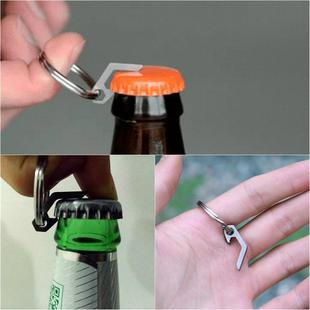 EDC Mini Lightweight Bottle Beer Opener Keyring Pocket Tool Outdoor Camp Hike Utility Gadget Titanium Alloy