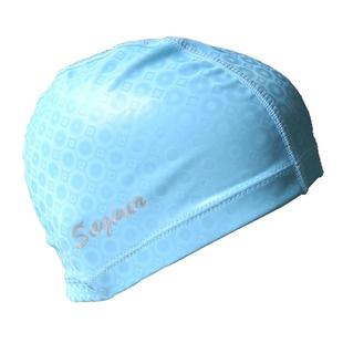 Saqiner PU Coated Waterproof Breathable Universal Swimming Cap(Light Blue)
