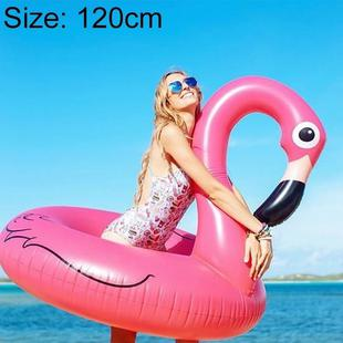 Summer Inflatable Flamingo Shaped Float Pool Lounge Swimming Ring Floating Bed Raft, Size: 120cm