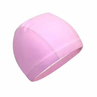 Adult Waterproof PU Coating Stretchy Swimming Cap Keep Long Hair Dry Ear Protection Swim Cap (Pink)
