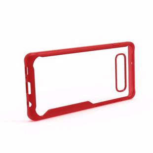 Transparent PC + TPU Full Coverage Shockproof Protective Case for Galaxy S10+ (Red)