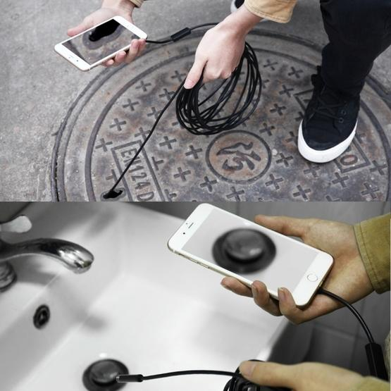 USB-C / Type-C Endoscope Waterproof Snake Tube Inspection Camera with 8 LED & USB Adapter, Length: 3m, Lens Diameter: 8mm - 8