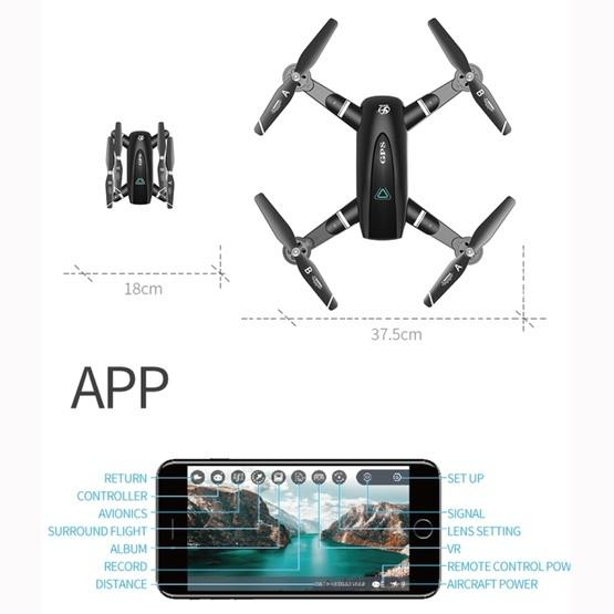 S167 2.4G 1080P WIFI Foldable GPS Positioning Remote Control Aircraft RC Quadcopter Drone - 4