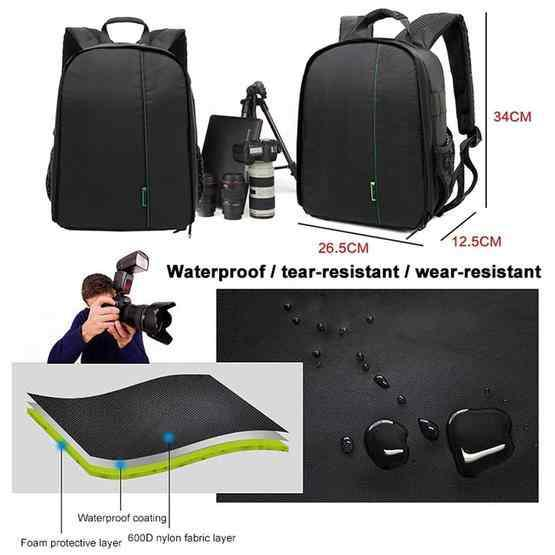DL-B028 Portable Casual Style Waterproof Scratch-proof Outdoor Sports Backpack SLR Camera Bag Phone Bag for GoPro,for SJCAM for Samsung,for for Nikon,for Canon,for Xiaomi Xiaoyi YI,for iPad,fo Apple